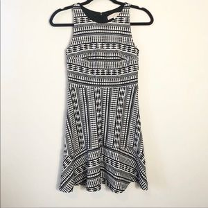 Loft Fit and Flare Printed Dress